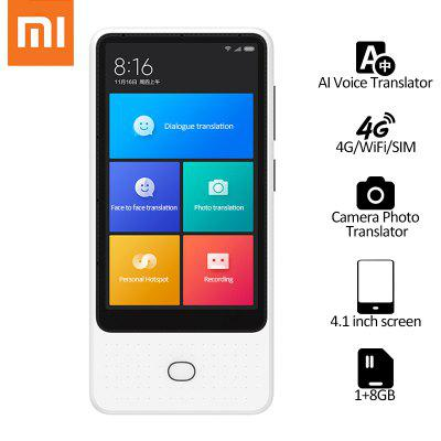 Xiaomi Mijia AI Voice Translator 18 lingue Touch Screen da 4,1 pollici 4G WiFi SIM 6 mic Translator