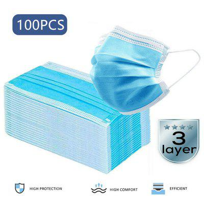 3 Layer Earloop Disposable Protective Face Masks Anti-Dust Mouth Dental Mask