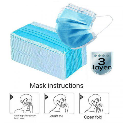 3 Layer Earloop Surgical Mask Disposable Medical Face Masks Anti-Dust Mouth Dental Mask