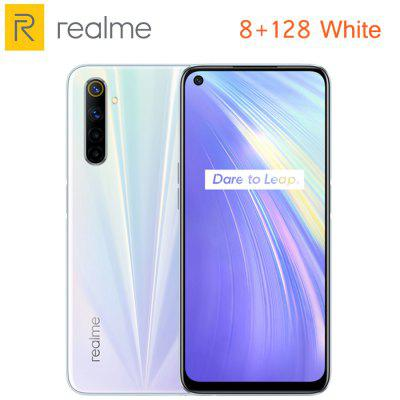 New EU Version OPPO Realme 6 6.5inch Fullscreen 4300mAh 64MP AI Quad Camera Mobile Phone