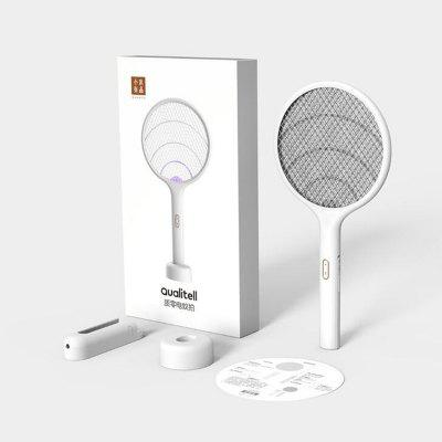 Qualitell Electric Mosquito Swatter Rechargeable Handheld LED Mosquito Killer Insect Fly Wall-mounted Mosquito Killing Dispeller From Xiaomi Youpin