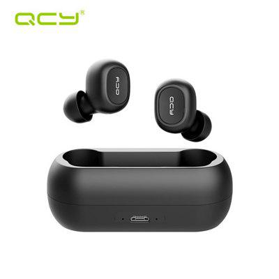 New English Version QCY T1C Mini Bluetooth Earphones with Mic Wireless Sports Headphones Noise Cancelling Headset with Charging Box