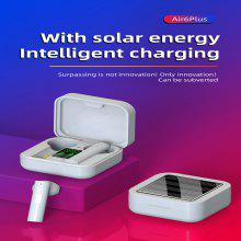 Air6 Plus Solar charging 5.0+EDR Bluetooth Earphone Intelligent Digital Display True wireless Headset High-fidelity Stereo Headphone