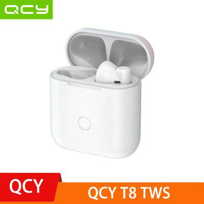 2020 NEWEST QCY T8 TWS bluetooth Earphones ENC Noise Reduction Wireless Earbuds HiFi Stereo Touch Control Type-C
