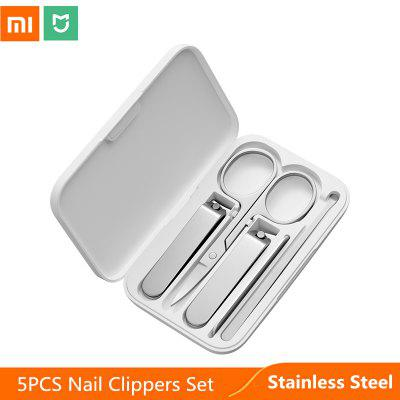 5pcs Xiaomi Mijia Stainless Steel Nail Clippers Set Trimmer Pedicure Care Earpick File Professional Beauty Tools