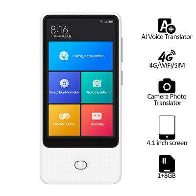 Xiaomi Mijia AI Voice Translator 18 Languages 4.1 inch Touch Screen 4G WiFi SIM 6 mic