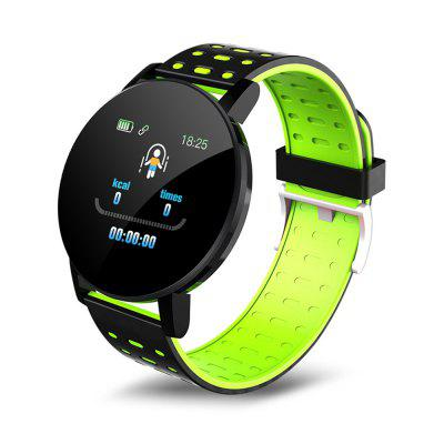 119Plus Smart Bracelet Wristband Heart Rate Monitor Sport Fitness Tracker Watch Smartband for Android IOS Men Women