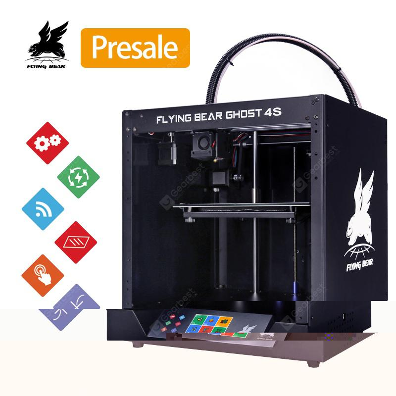 Flying Bear Ghost 4S Full Metal Frame High Precision DIY 3D KIT Printer with Glass Platform - Ghost 4 Poland(entrep�t EU) 6%commissions