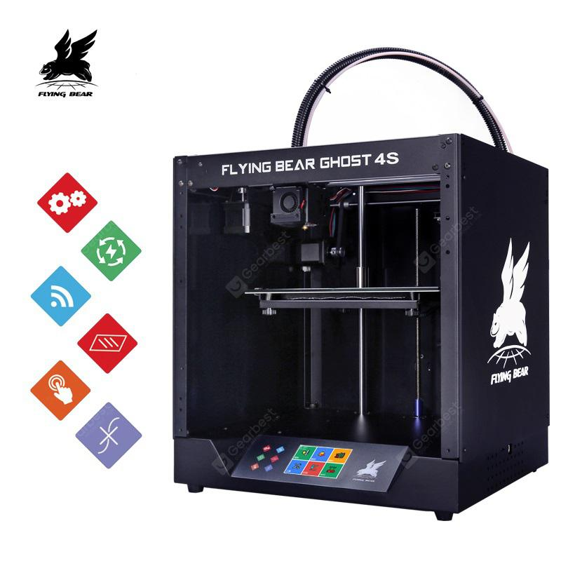 Flying Bear Ghost 4S Full Metal Frame High Precision DIY 3D KIT Printer with Glass Platform - Ghost 4S