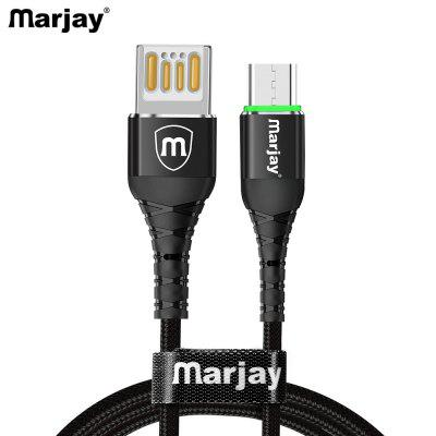 Marjay Double-sided Blind Insert LED Fast Charging Type-C Micro USB Data Cable For Samsung Huawei