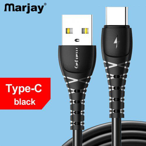 Marjay Type C Micro USB 2.4A Fast data charging cable For Samsung Huawei Xiaomi Android Handly Cable