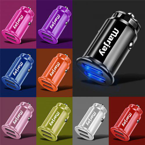 Marjay 3.4A Fast Car Charging Dual USB Phone Charger With LED Display For Xiaomi Samsung iPhone