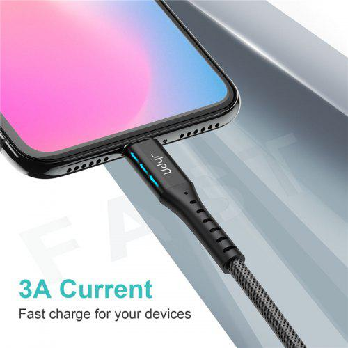 Udyr 3A USB Cable Mobile Phone Micro USB Type C Charger Cable for Samsung Xiaomi Redmi Note 7
