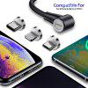 Udyr Magnetic USB Cable Elbow Fast Charging Type C Micro USB For Iphone X Max Xs 7 8 For Xiaomi