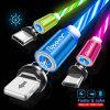 Rexxar 2.4A Streamer Magnetic Round Data Cable Micro USB Type C For iphone Cable Fast Charging USB