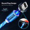 Rexxar 2.4A Streamer Magnetic Round Data Cable Micro USB Type C For iphone Cable For xiaomi note 10