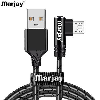 Marjay 2.4A Elbow TPE Degree Fast Charging Type C Micro USB For Samsung S8 S9 Note 9 8 Xiaomi mi8