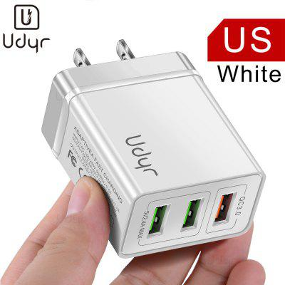 Udyr 3.0 Quick Charge 3 Ports USB Phone Charger UK EU US Plug For iPhone Xiaomi Samsung Huawei