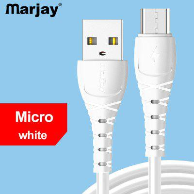 Marjay Type C Micro USB 2.4A Fast data charging cable For Samsung Huawei Xiaomi For xiaomi note 10