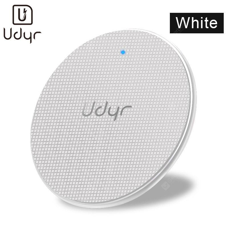 Gearbest Udyr Qi 10W Fast Wireless-Charger USB LED Indicator For iPhone X Max Samsung Galaxy S9 Charging Pad - Black Universal