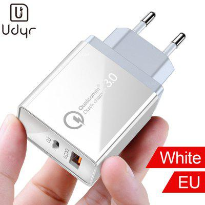Udyr Quick Charge 3.0 2.0 QC PD intelligent Charger Retardant Durable Security for iPhone Xiaomi LG