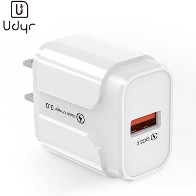 Udyr Usb-Charger QC3.0 Fireproof-ABS Travel Wall Charger US EU 18W For Huawei iPhone Xiaomi Samsung
