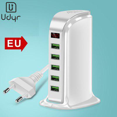 Udyr 5 Ports USB Smart Charger LCD Intelligent Digital Display Multi USB Charging Station Universal