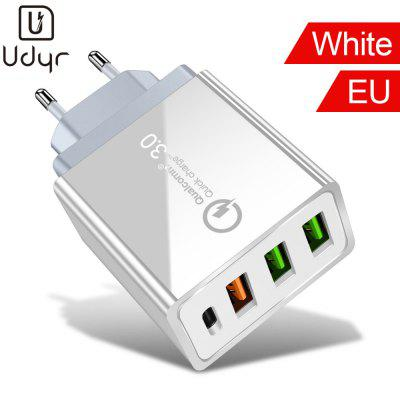 Udyr Quick Charge 3.0 Multi USB Charger plus 18W PD  Charger For iPhone Samsung iPad Pro Macbook