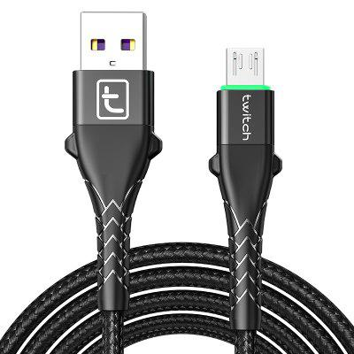 Twitch QC3.0 USB Type C Micro USB Cable Fast Charging For Samsung S10 Huawei P30 Pro Xiaomi Redmi