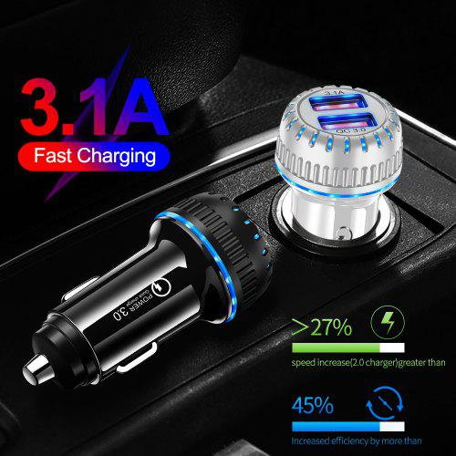Udyr QC3.0 2USB Universal Car Charger Intelligent Identification MobilePhone for iPhone Xiaomi USB