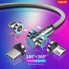 Twitch 540 Rotate Magnetic Cable Micro USB Type C Cable Magnetic Charging Charger Cable For iPhone Xiaomi Samsung USB Phone Wire