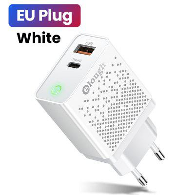 Elough PD 20W USB Type C Charger Fast Charging For iPhone 11 Pro Max Xiaomi Dual USB Quick Charge QC 3.0 Type-C Starry Charger
