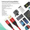 TOPK AN42 3A Quick Charge 3.0 USB for Xiaomi Redmi Note 7 Fast Charging Type-C Cable for Samsung