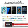 TOPK AC27 Micro USB Cable 1M Voltage and Current Display Nylon Braided Durable USB Cable Data