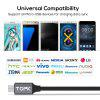 TOPK AC32 Micro USB Cable Voltage and Current Display Fast Charging Data Sync USB Cable