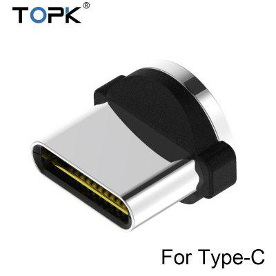 TOPK AM30 1m 2m 90 Degree L Type Magnetic Cable Nylon Braided LED Indicator Type C Cable