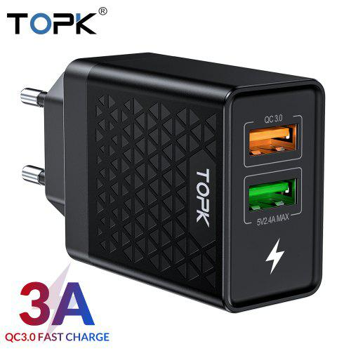 5V 2A Foldable USB AC Wall Charger BLACK 4 Samsung Galaxy Note 10.1 2014 Edition