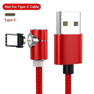 TOPK 1M 3A Magnetic USB Cable Fast Data Charging Cable Magnet Charger Micro USB Type C iPhone Cable