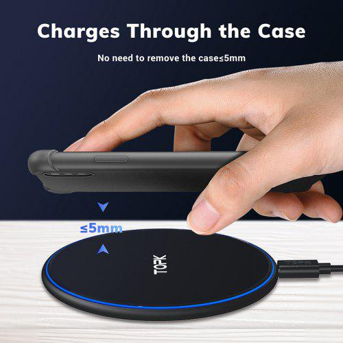TOPK B02W 10W Wireless Charger LED Portable Universal Fast Wireless Phone Charger