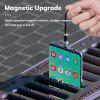 TOPK AM28 1M 360 degree Rotate Magnetic Micro USB Type C iPhone Cable LED Magnetic Charging Cable