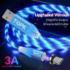 TOPK 1M LED Flow Glow Lighting Magnetic Micro USB Type C Cable Fast Charging for iPhone Xiaomi