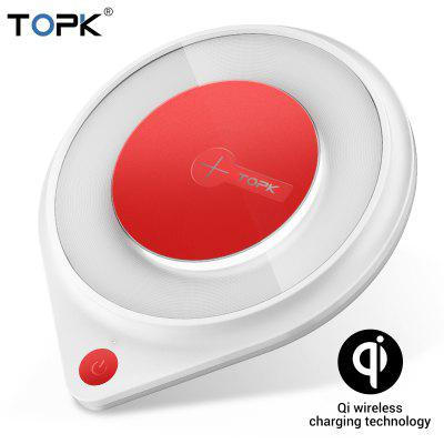 TOPK BO3W 10W Wireless Charger for iPhone X Xs Fast Wireless Charging Pad for Samsung Note 9 Xiaomi