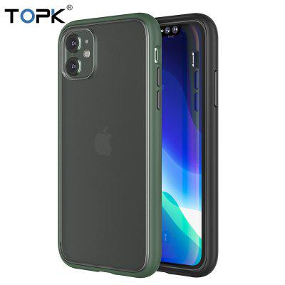 TOPK Luxury Matte Phone Case for iPhone 11  Shockproof Transparent Silicone Case Cover for  iPhone