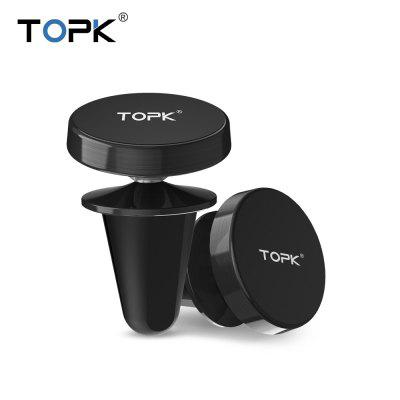 TOPK Universal Magnetic Car Mobile Phone Holder 360 Rotation Air Vent Mount Stand for iPhone Huawei