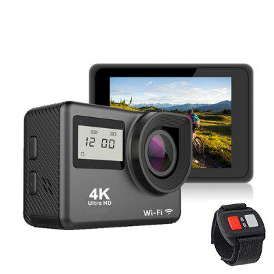 2019 dual screen wifi full hd 1080p underwater sport DV extreme bicycle action camera 4k