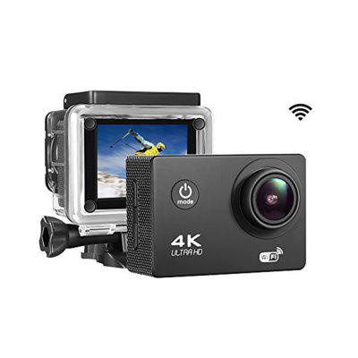 4K 2.0 LCD WiFi Ultra HD Waterproof Action Sport Camera  - China Black