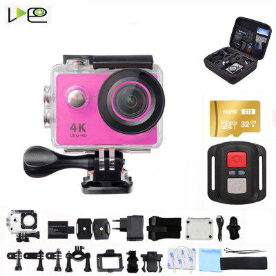 VDEO Action Camera Ultra HD 4K-30fps WiFi 170D waterproof video helmet recording sports camera Image
