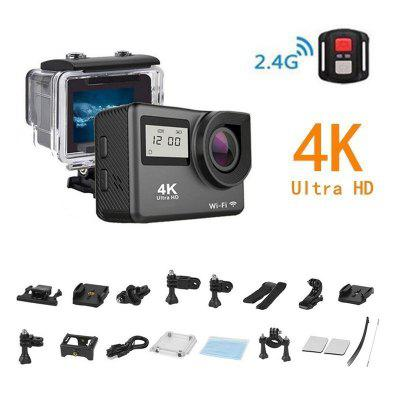 Mini 4K Action Camera  WIFI   Full HD 30fps Mini Helmet Waterproof Sports DV Camera remote control