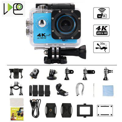 VDEO -Action Camera 4K WiFi 2.0 LCD Waterproof Underwater Video Recording Helmet Sports Camera