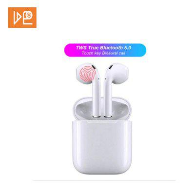 VDEO-I13 TWS Bluetooth Headset Touch Operation Stereo and Microphone Bluetooth Headset - White
